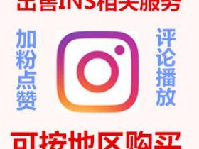 Instagram真人服务 买粉丝买赞 加粉涨follower 点赞like 刷ins浏览量评论等