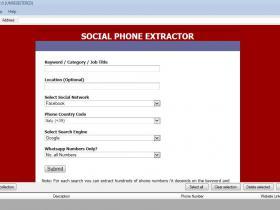 Social Phone Extractor 社交平台电话和whatsapp号码批量提取软件 支持Facebook