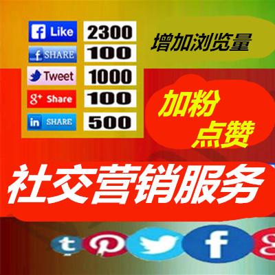 专业社交营销服务facebook instagram youtube加粉点赞增加浏览量