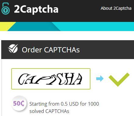 国外验证码识别平台-2CAPTCHA注册及充值图文教程