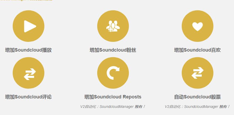 SoundcloudManager -2019最新Soundcloud 声云营销软件 增加粉丝 播放 点赞下载量