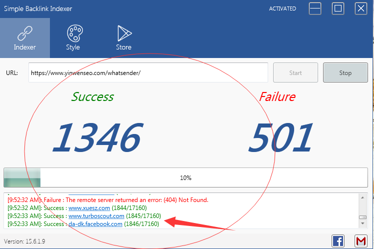 Simple Backlink Indexer 谷歌百度网站快速收录促进-白帽SEO工具