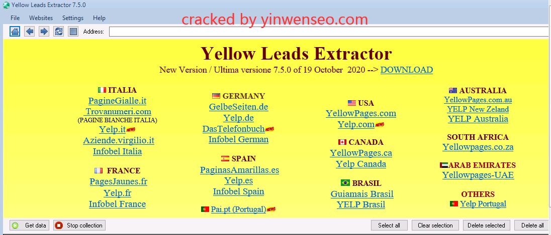国外客户邮箱电话收集-Yellow Leads Extractor 最新版本 公司黄页信息导出